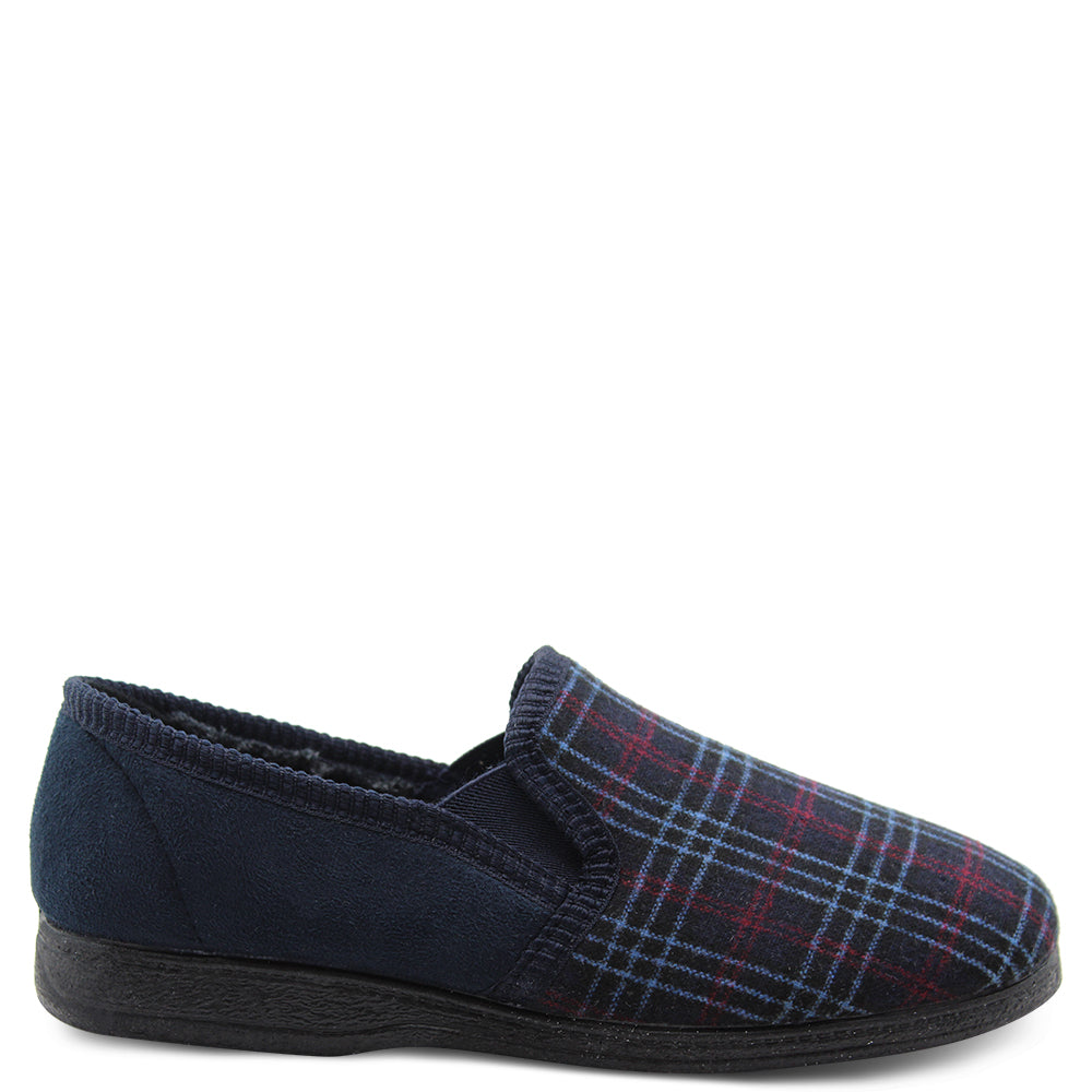 Grosby Byron Mens Navy Slipper