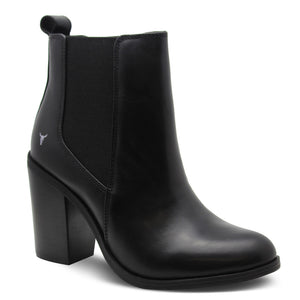 Windsor Smith Lille Black Womens Heel Boot