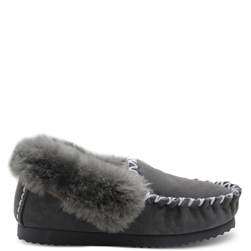 Emu Molly Grey Unisex Moccasin
