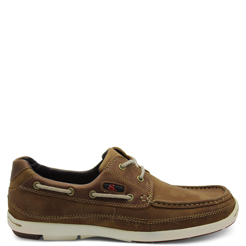 Saramanda Caba Tan Mens Boat Shoe