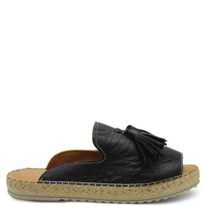Le Sansa Dolphin Black Womens Slide