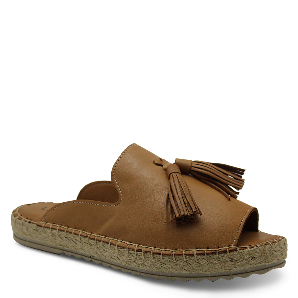 Le Sansa Dolphin Tan Womens Slide