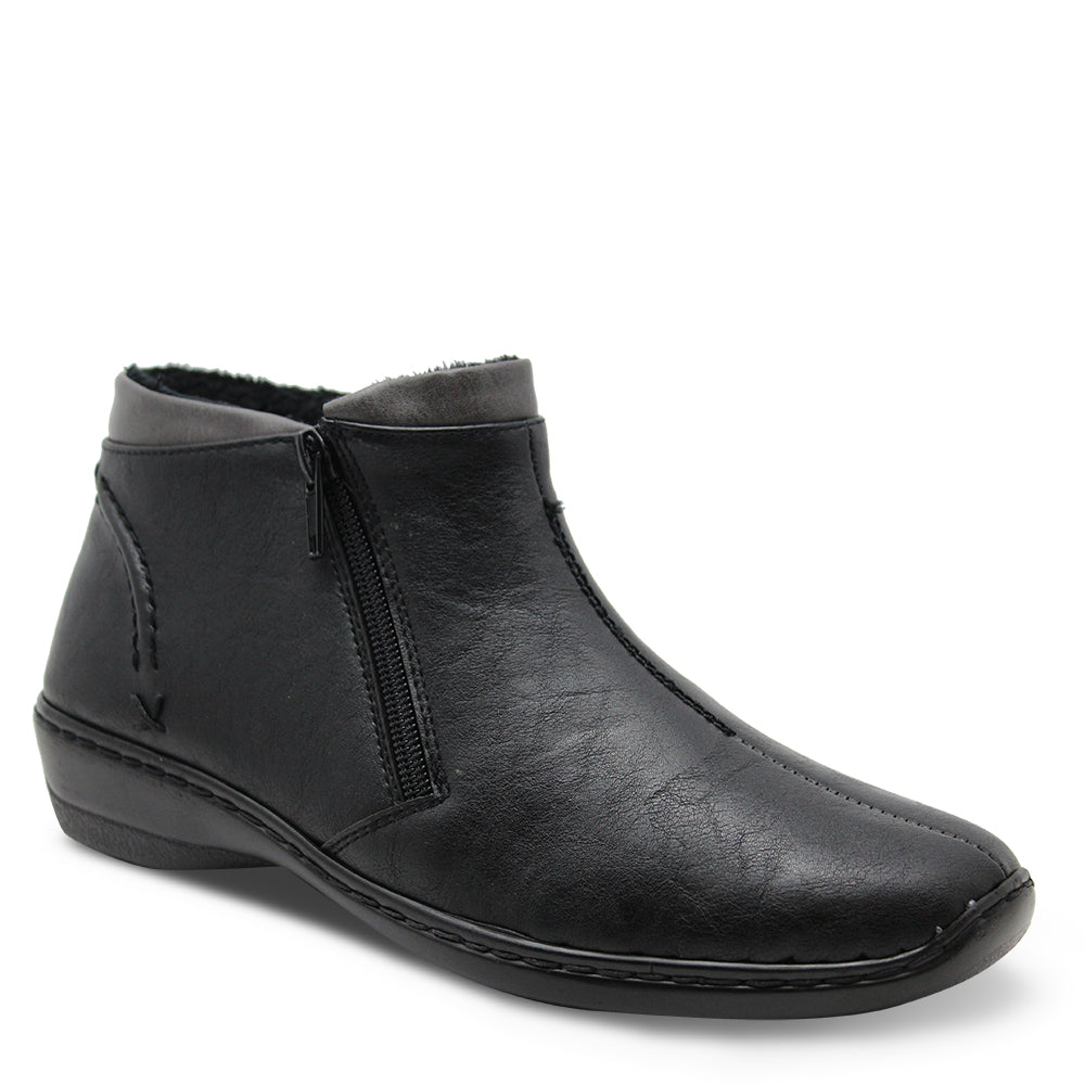 Comfort Leisure Gill Black Womens flat boot