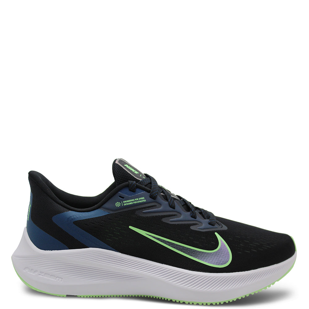 Nike Zoom Winflo 7 Black/Green Mens Runner