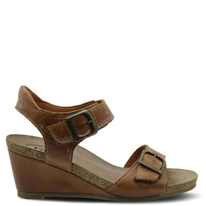 Taos Buckle up Camel Womens Sandal
