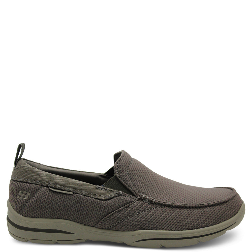 Skechers Walton Khaki Mens Slip On