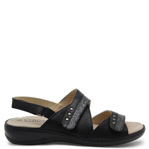 Comfort Leisure Noble Black/Silver Sandal