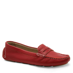 Keiko Valencia Womens Flat Red Loafer