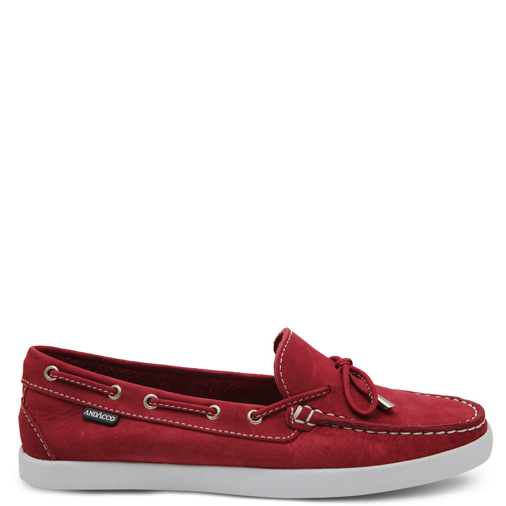 Andacco Ariana Red Womens Moccasin