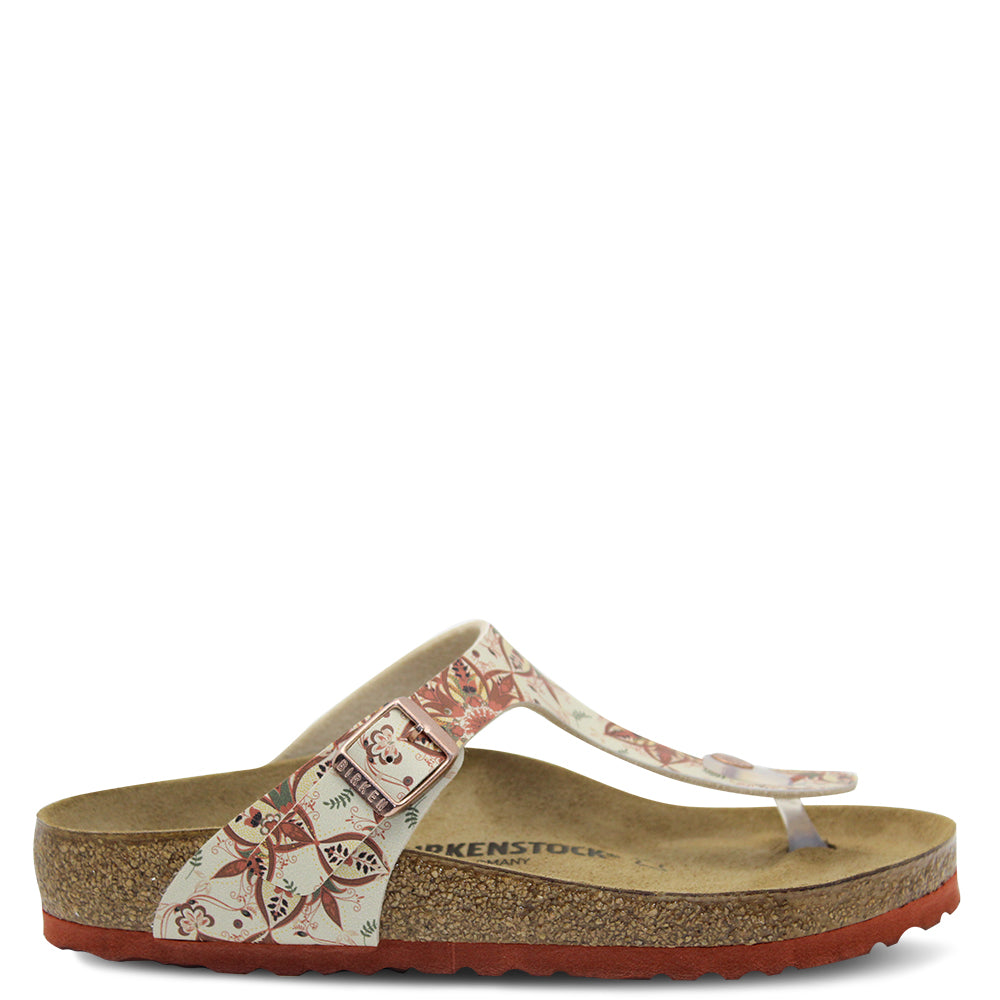 Birkenstock Gizeh Boho Flowers Red Earth Womens Thong