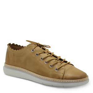 Effegie Frilled Tan Womens Sneaker