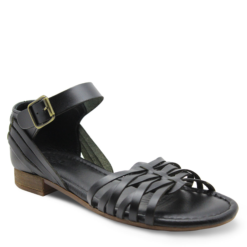 Sala Aim Womens Black Flat Sandal