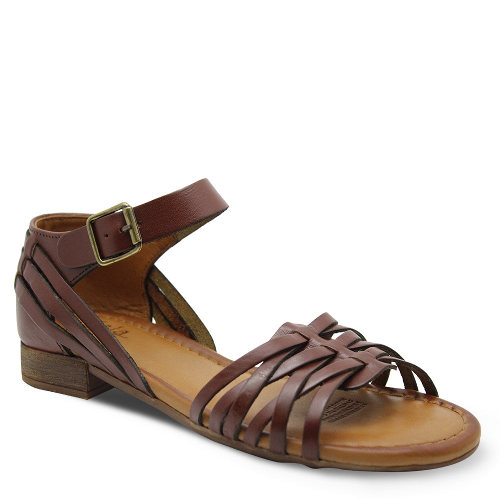Sala Aim Womens Brown Flat Sandal