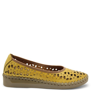 Sala Chino Womens Burnt Yellow wedge court