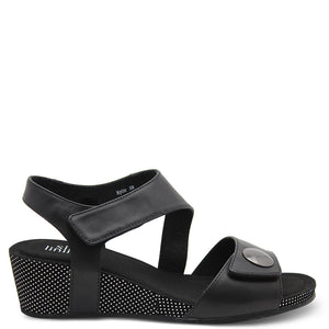 Silver Linings Kylie Black Womens Wedge Sandal