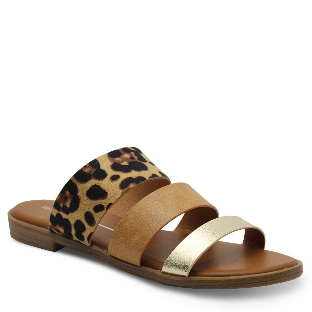 Los Cabos Kara Gold/Multi Womens Slide