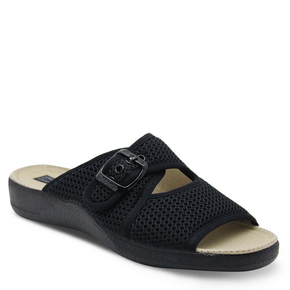 Devalverde 186 Womens Black Slide