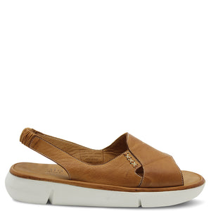 Sala Cloud Tan Women's Flat Sandal