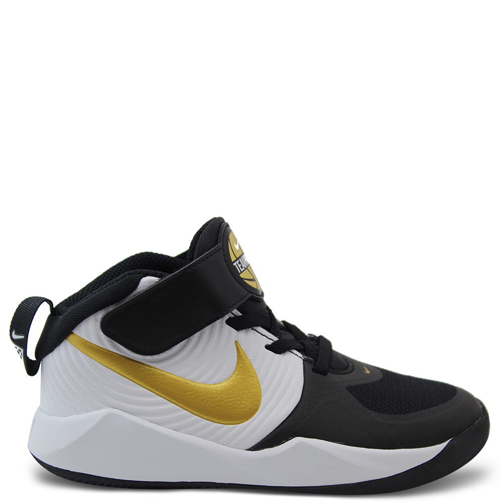 Nike Team Hustle PS Kids Black/Gold Boot