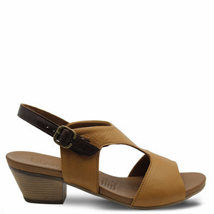 Bueno Railey Tan Heel Sandal
