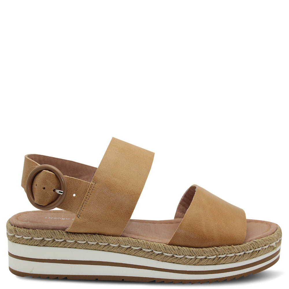 Django & Juliette Atha Tan Wedge Women's Sandal