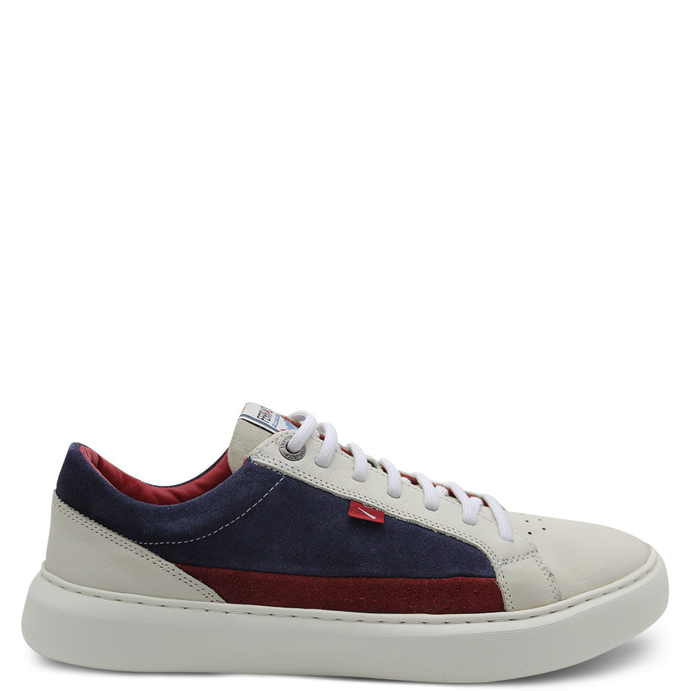 Ferracini Salvador White/Navy Men's Sneaker