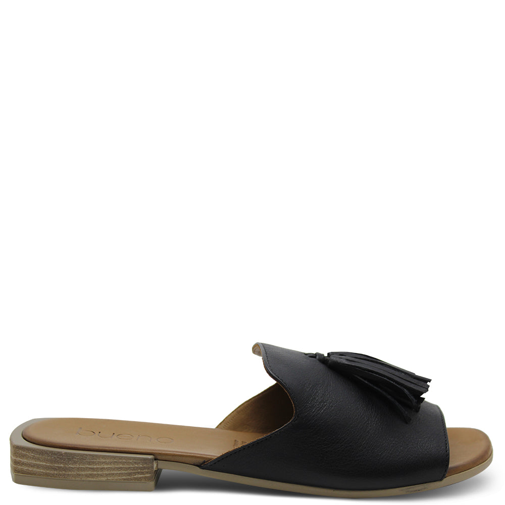 Bueno Adielia Women's Flat Black Slide