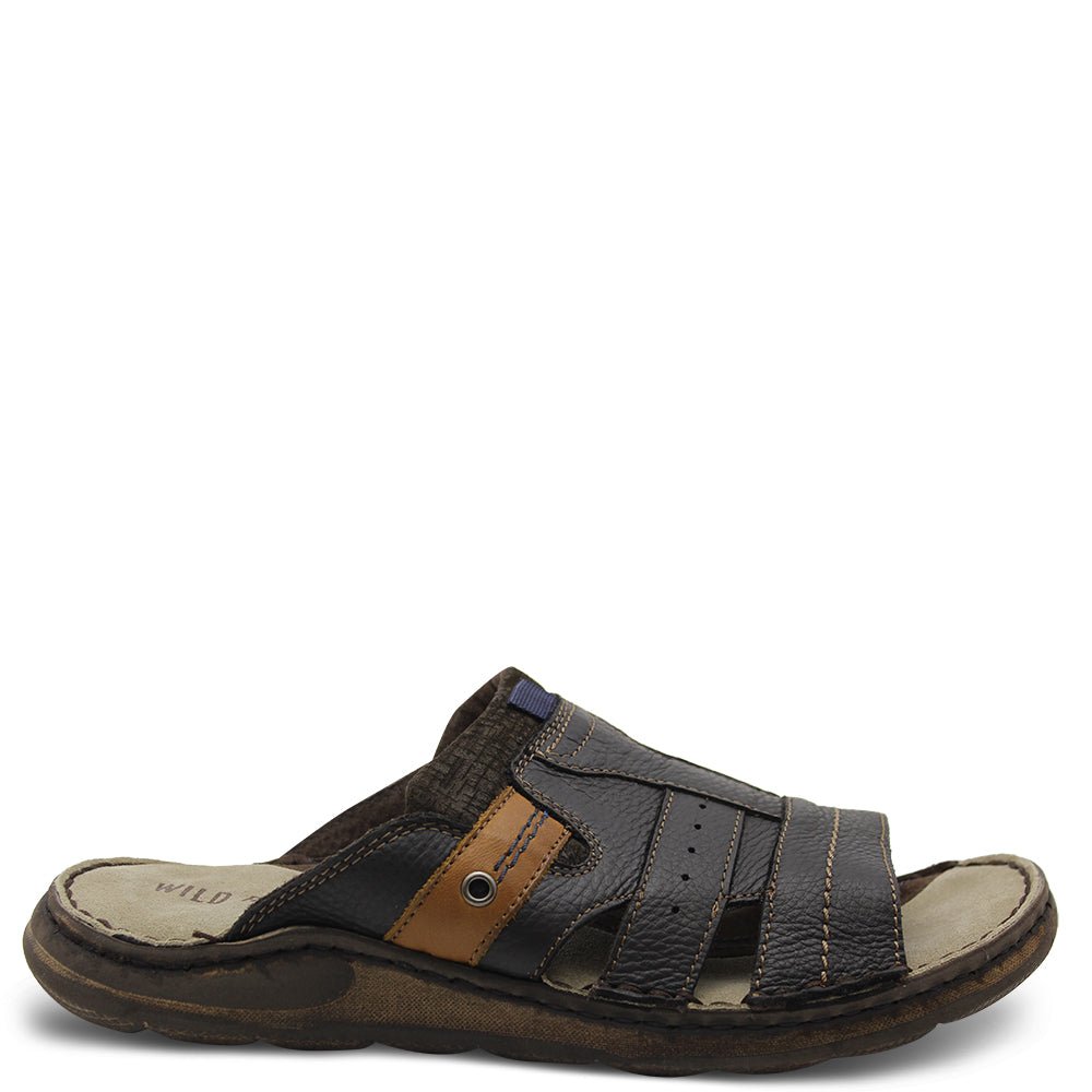Wild Rhino Pakes Brown Men's Slide