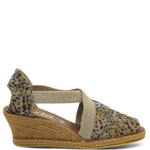 Zeta Skill Women's Animal Print Wedge Sandal