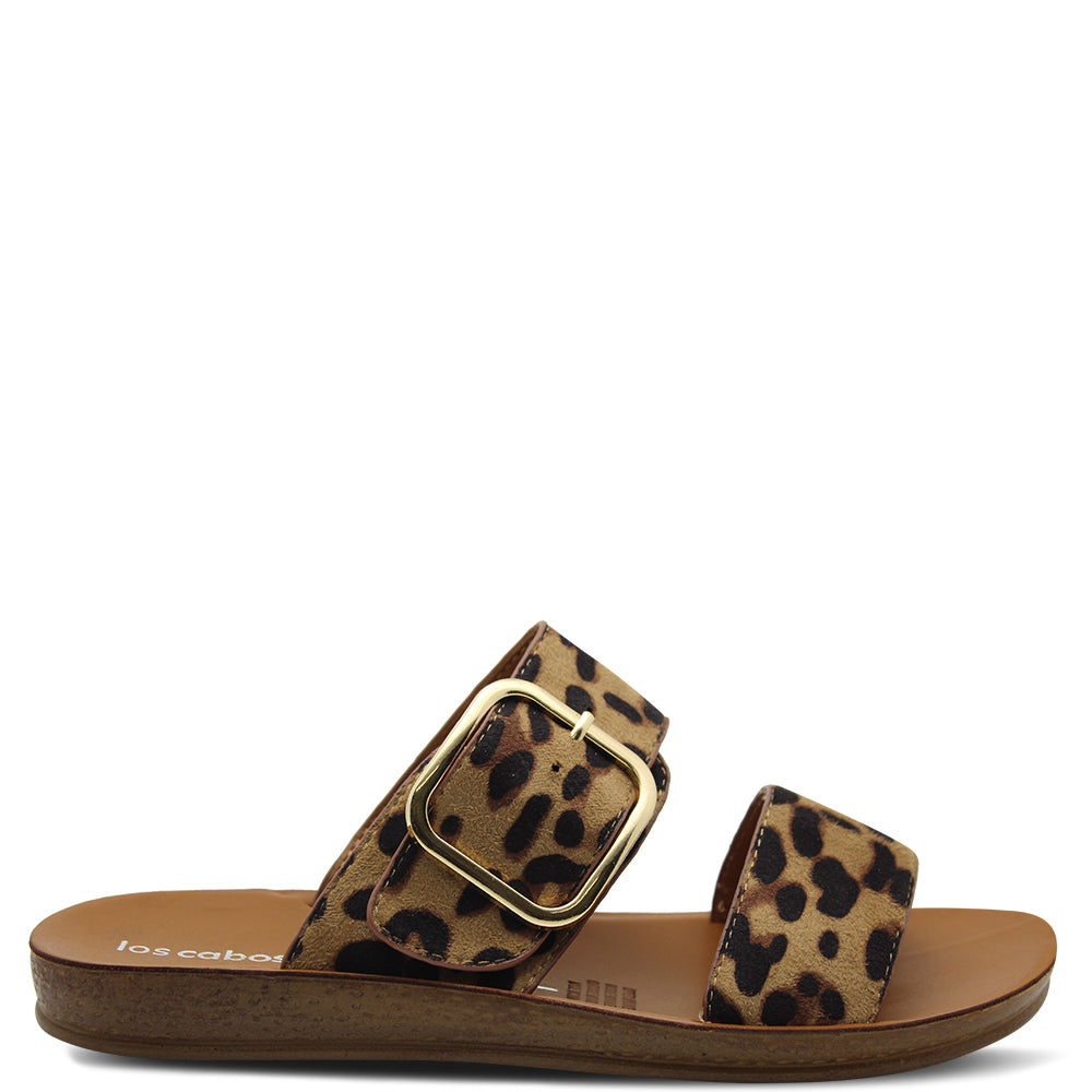Los Cabos Doti Leopard Womens Slide