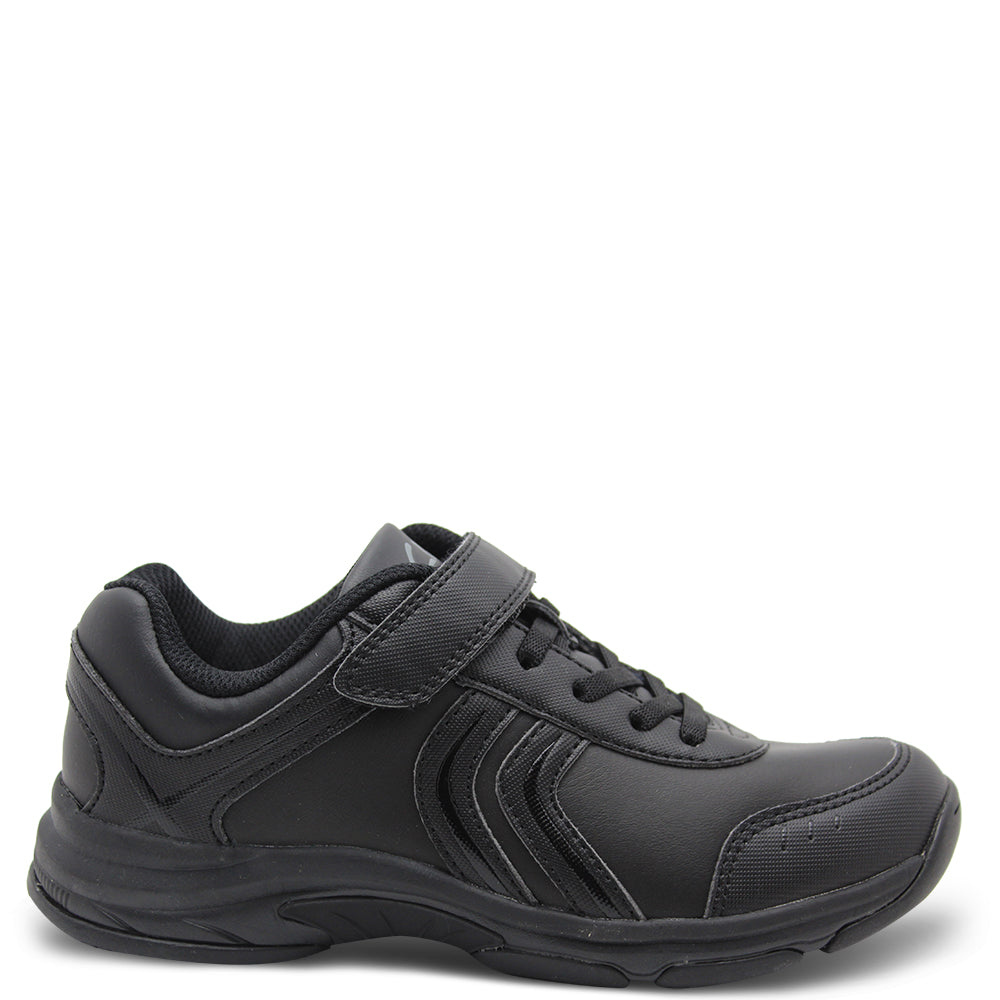 Clarks Archer Black Kids School Shoe
