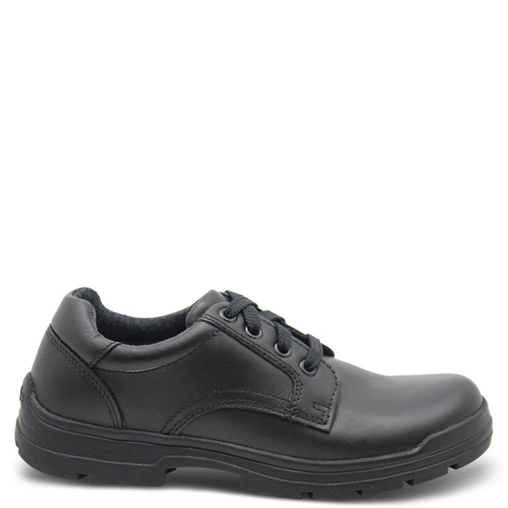 Clarks Grammer Kid's Black Lace Up School Shoe
