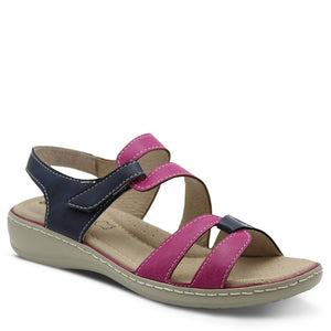 Comfort Leisure Bella Women's Navy/Pink Flat Sandal