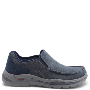 Skechers Rolens Arch fit Navy Slip On Shoe