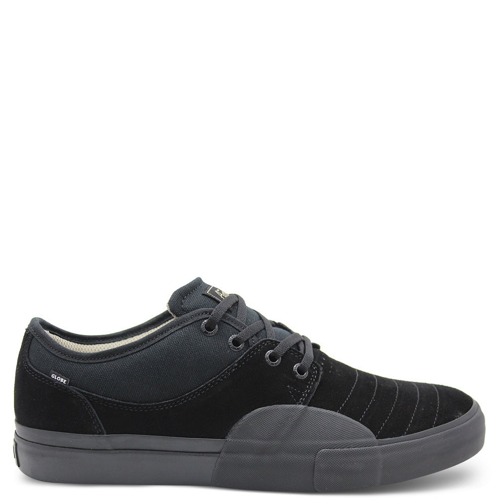 Globe Mahalo Plus Black Suede Lace Up Sneaker