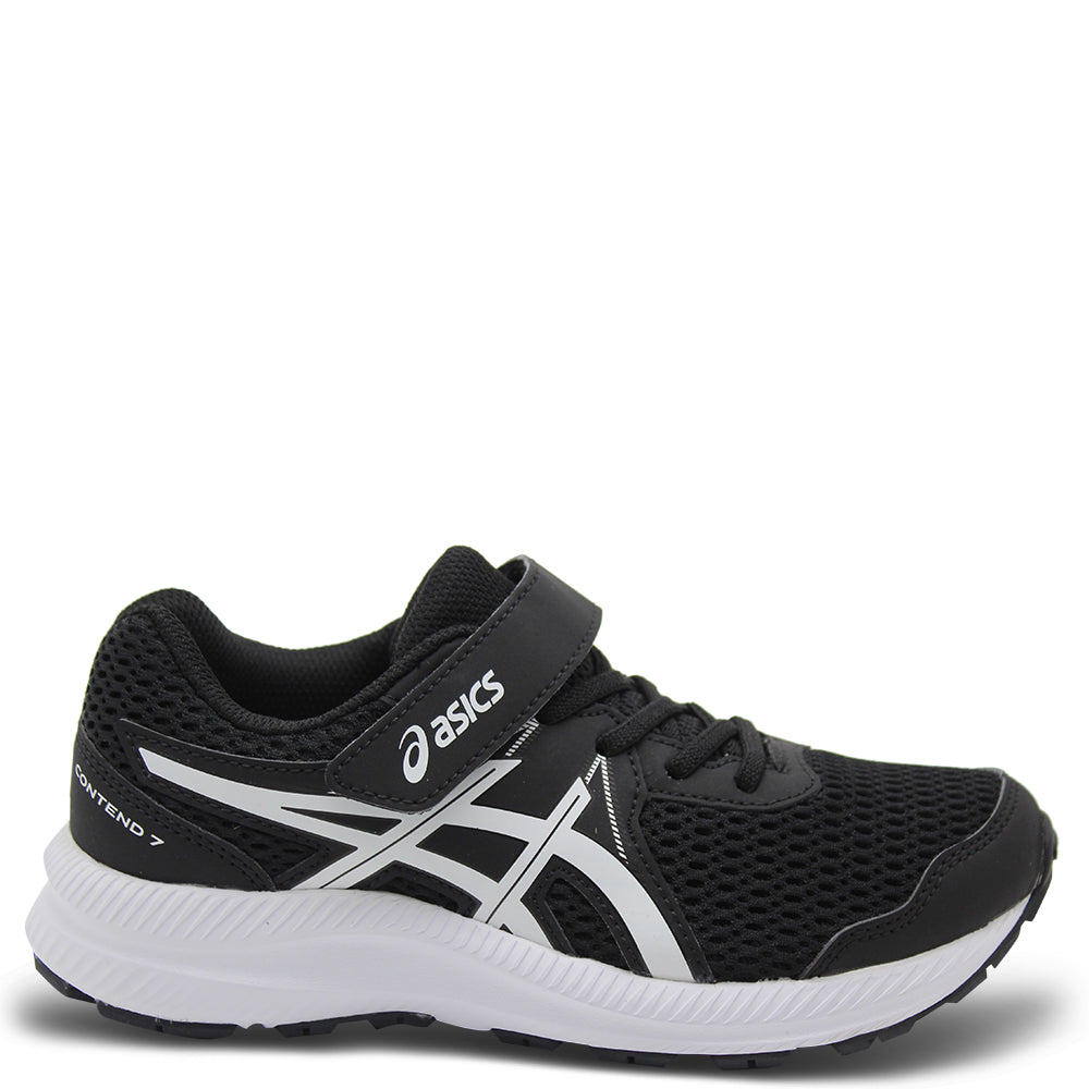 Asics Contend 7 GS Kid's Black/White Runner