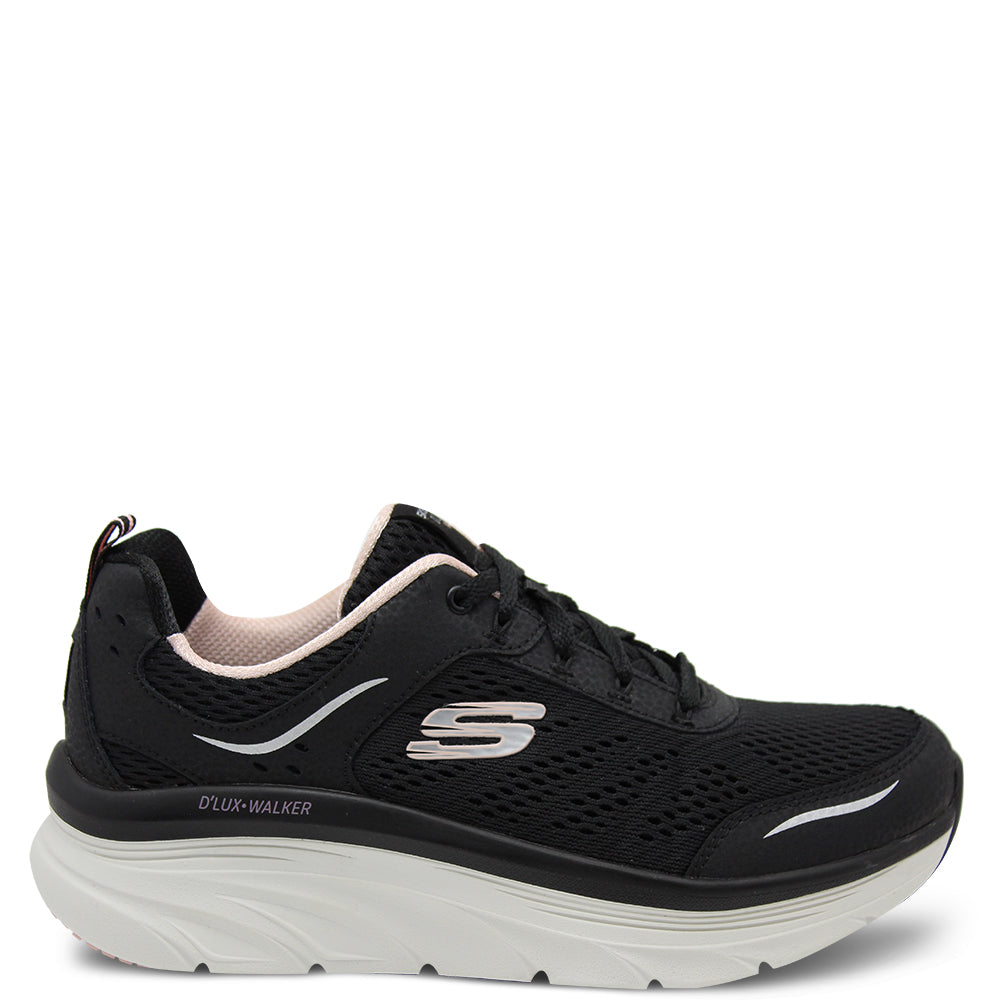 Skechers Infinite Motion Womens Sneakers Black Pink