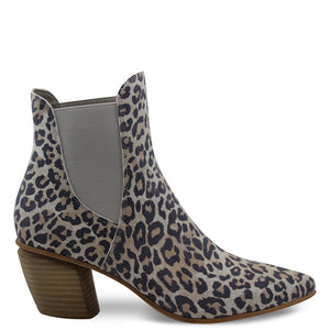 Django & Juliette Jinks Taupe Leopard Womens Boot