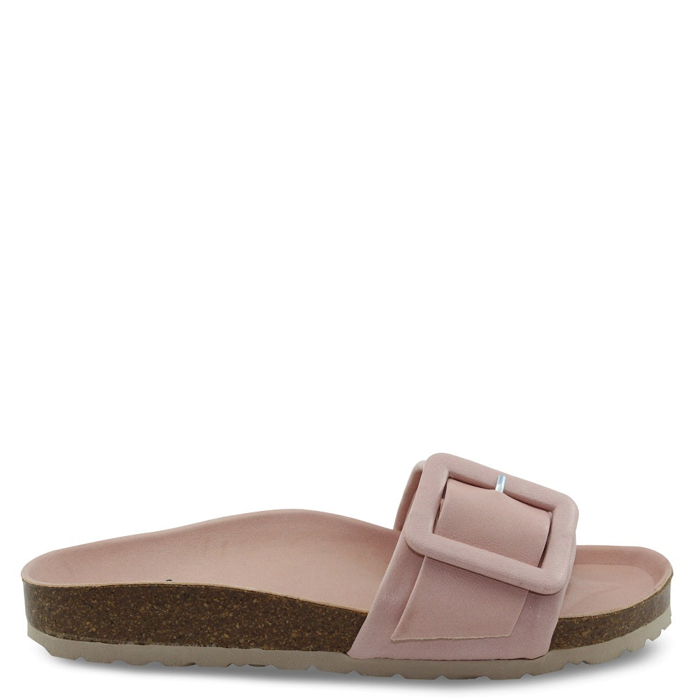 EOS Ginger womens flat slide nude