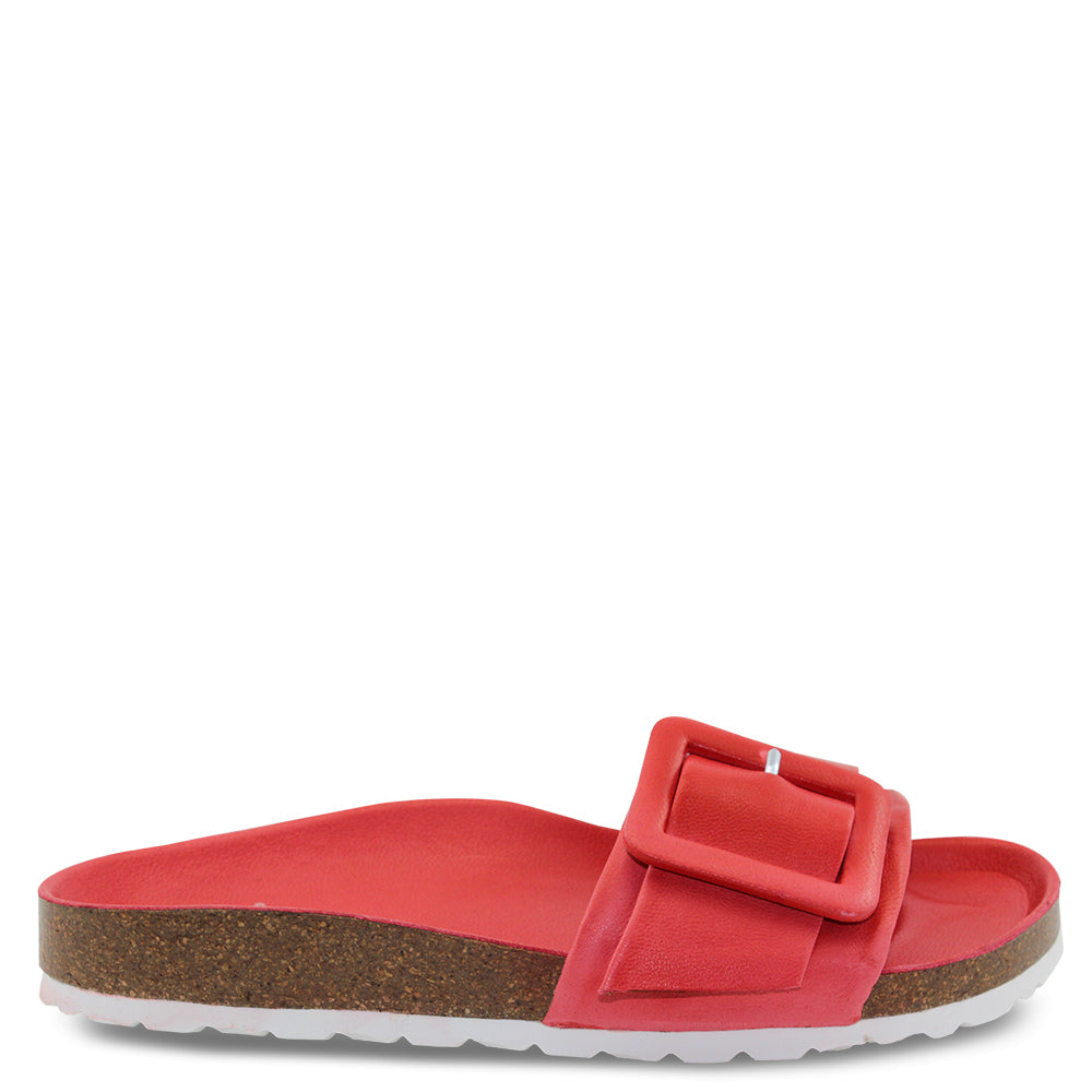 EOS Ginger womens flat slide red