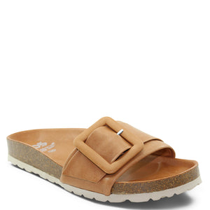 EOS Ginger womens flat slide brandy