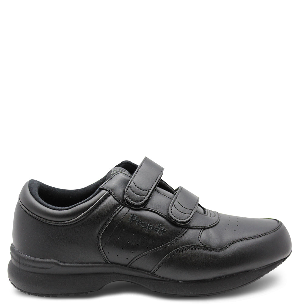 Propet Lifewalker Black Mens Velcro Shoe