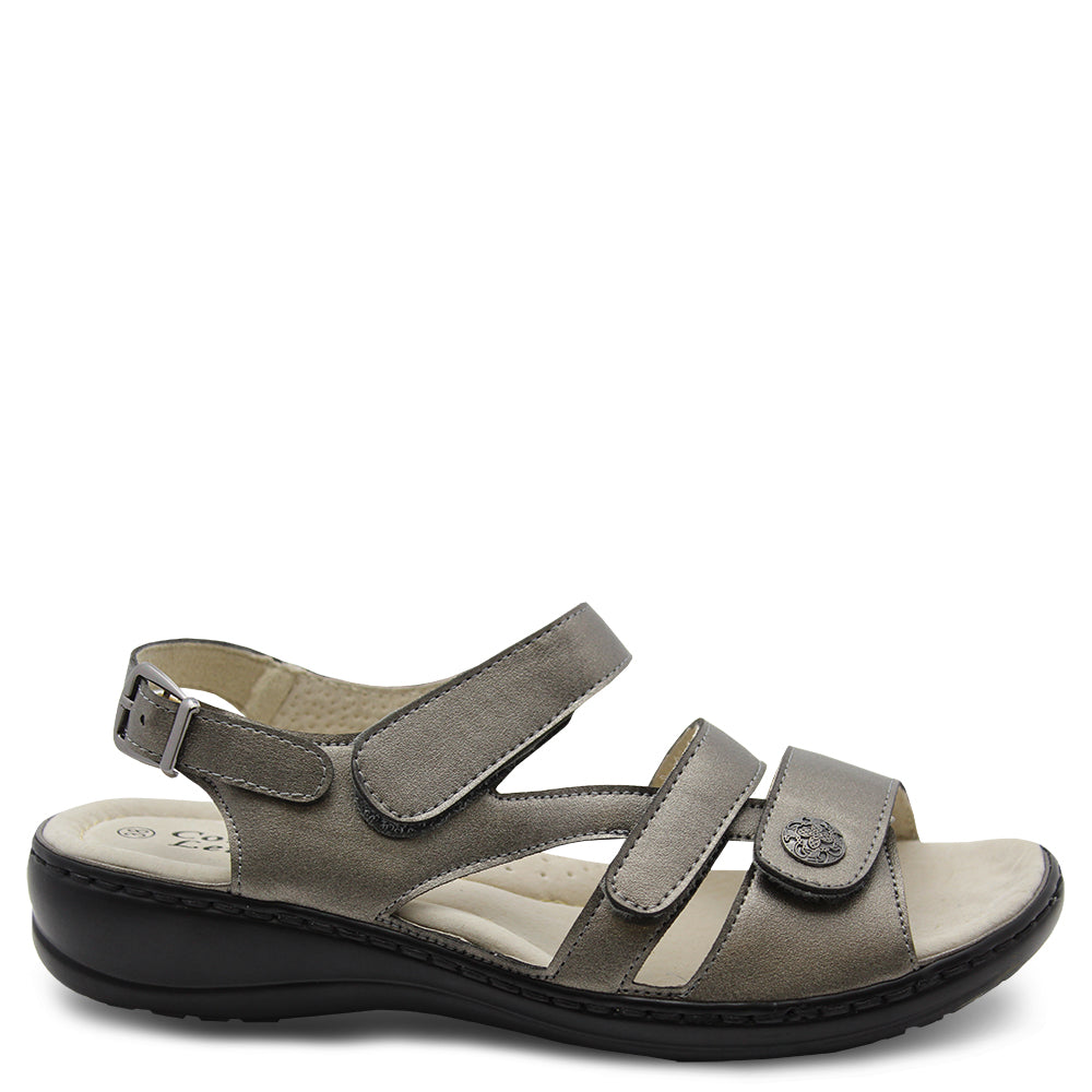 Comfort Leisure Nyx Pewter Womens Sandal