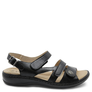 Comfort Leisure Nyx Black Womens Sandal