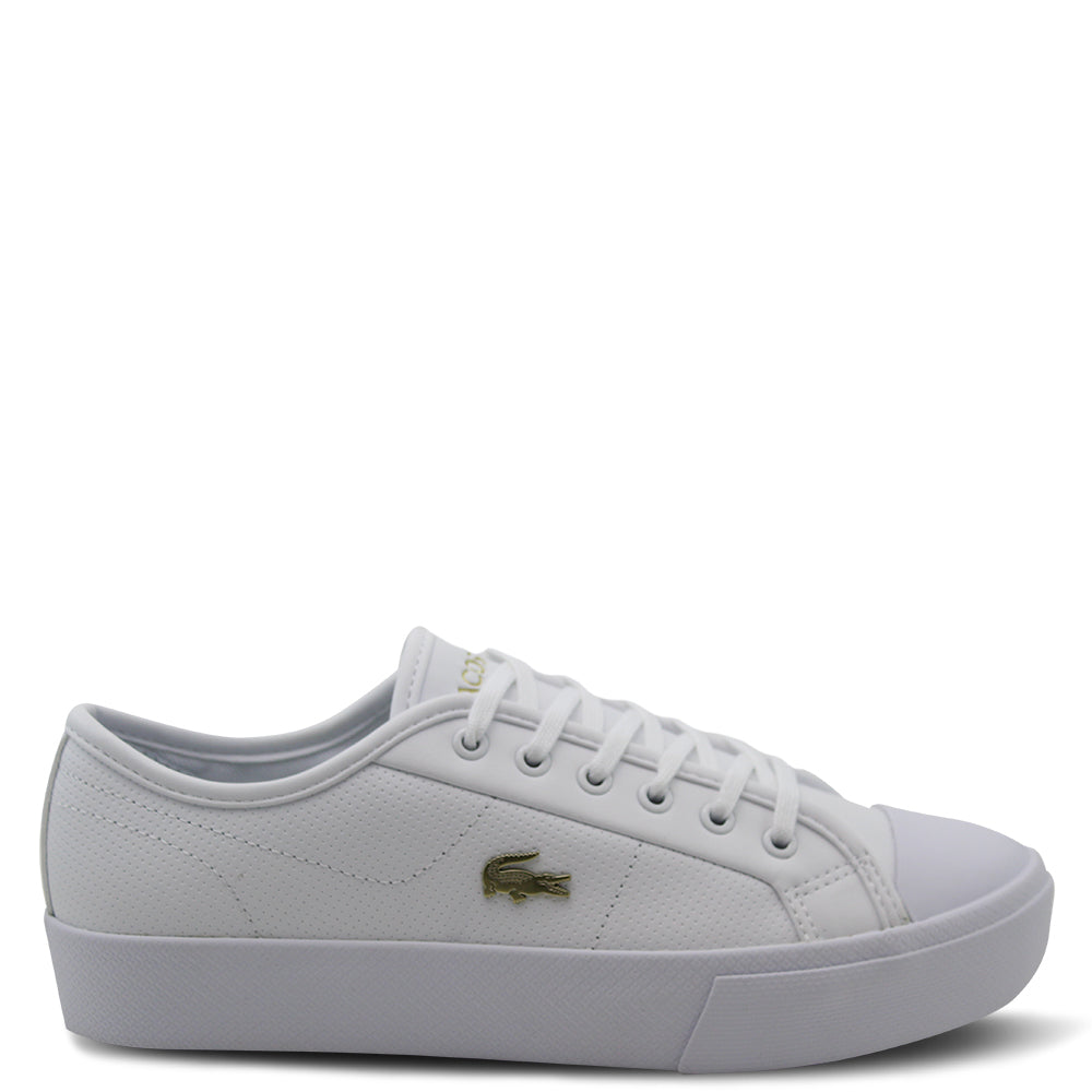 Lacoste Ziane plus grand womens white sneaker