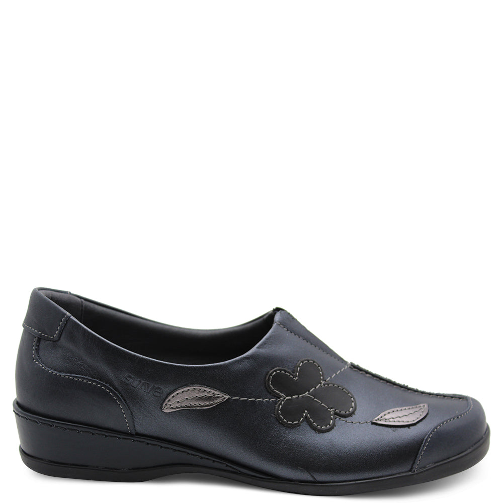 Suave Adeline Navy Multi Womens Flat