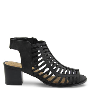 Step On Air Ages Black Heel Sandal