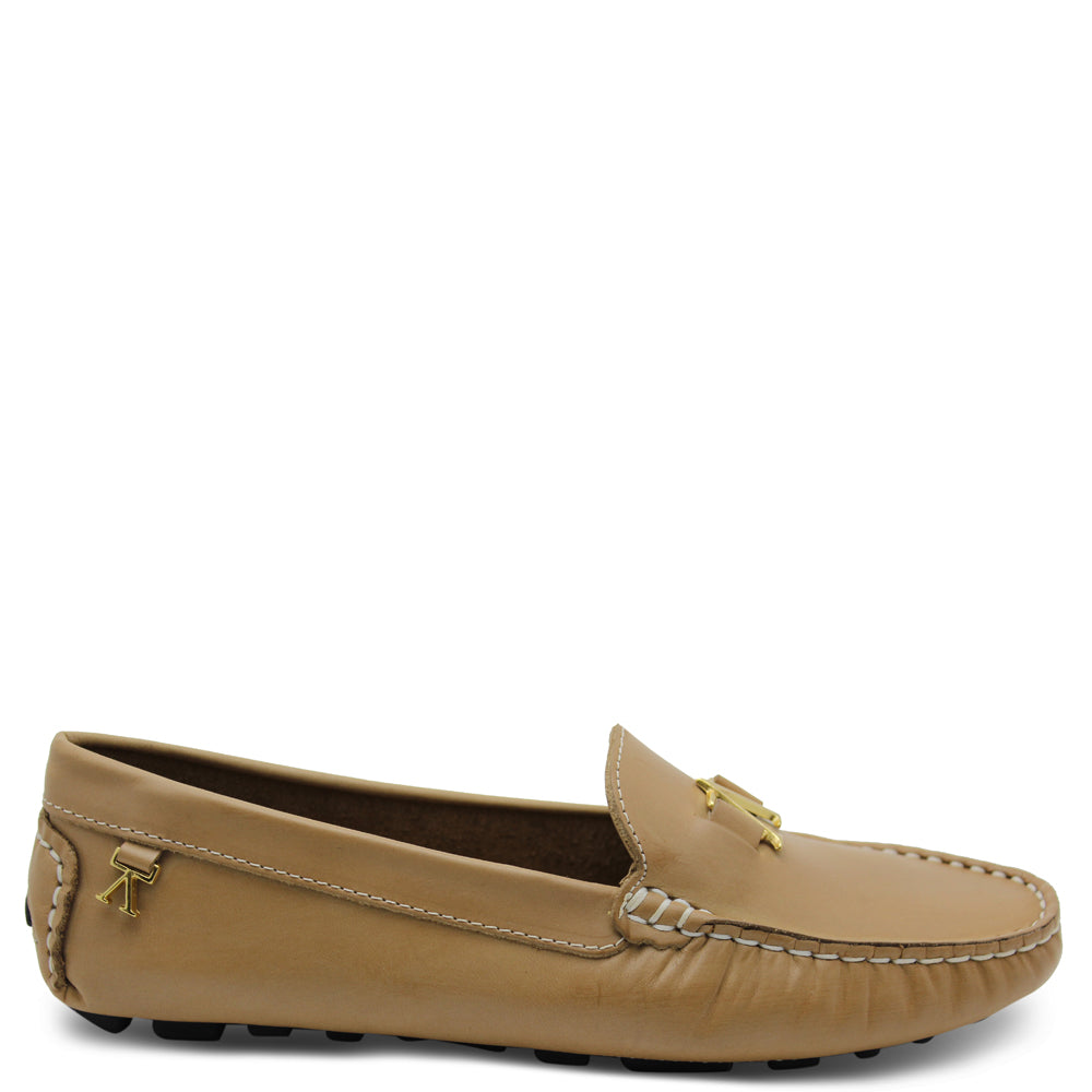Andacco Alice Taupe Womens Moccasin