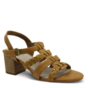 Walnut Amelia Tan Womens Heel Sandal