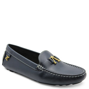 Andacco Alice Navy Womens Moccasin